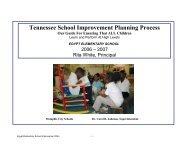 Tennessee School Improvement Planning Process - Memphis City ...