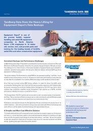 Tandberg Data Case Study