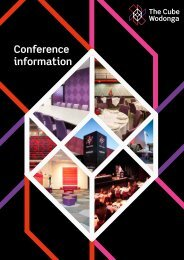 Conference information booklet (1274 KB) - The Cube Wodonga