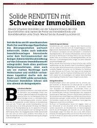 Solide RenDiten mit Schweizer immobilien - IMMOFONDS