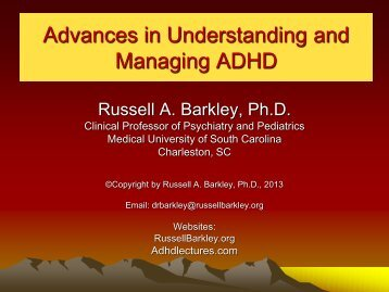 Understanding and Managing ADHD – Davidson March 2013