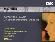 Advanced LDAP Infrastructure Design - Lotus Sandbox