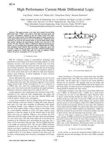 High Performance Current-Mode Differential Logic - IEEE Xplore