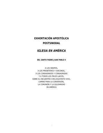 IGLESIA EN AMÉRICA - Iglesia Católica Conferencia Episcopal del ...