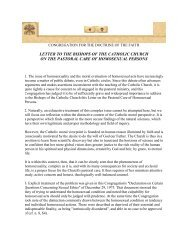 Letter to the Bishops of the Catholic Church on the Pastoral Care of ...