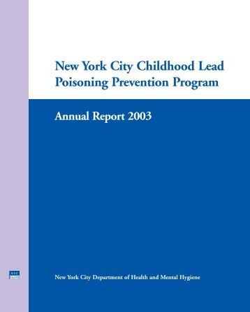 New York City Childhood Lead Poisoning Prevention Program - NMIC