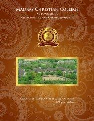 AUTONOMOUS - Madras Christian College