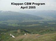 Klappan CBM Program April 2005 - Minerals North