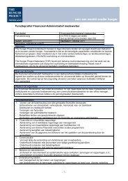 Functieprofiel Financieel-Administratief medewerker - The Hunger ...