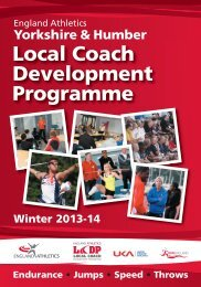 YH-LCDP-2013 booklet - England Athletics