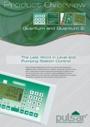 Pulsar Quantum (2) Level & Pumping Station Controller Data Sheet