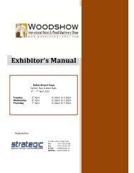Exhibitor's Manual - Dubai Woodshow