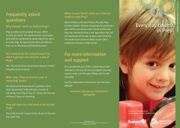 Everyday counts prep brochure - Sunshine Beach State School