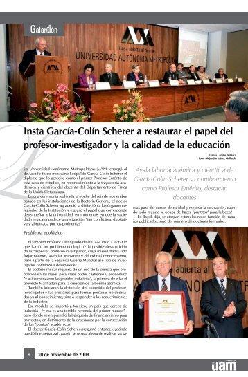Profesor Emérito de la UAM - Comunicación Social - UAM