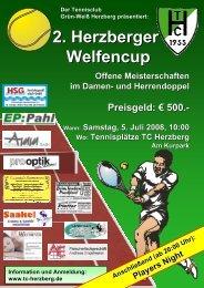 Download: Plakat & Anmeldeformular - TC Grün-Weiß Herzberg