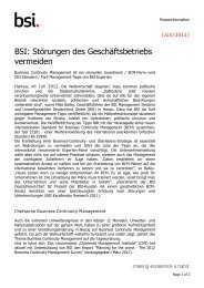 Business Continuity Management ISO 22301 - BSI