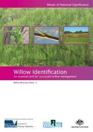 Resource sheet 2 - Willow identification - Weeds Australia