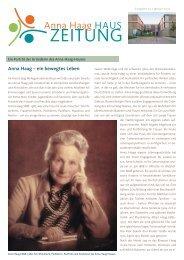 Nr. 23   Januar 2012 (pdf) - Anna-Haag-Haus e.V.