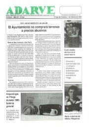 El Ayuntamiento no comprará terrenos a precios ... - Periódico Adarve