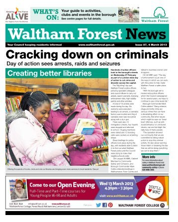 Issue 87: Cracking down on criminals - Waltham Forest Council