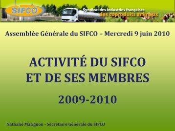 Présentation de Mme Nathalie Matignon, secrétaire ... - SIFCO