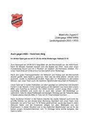Auch gegen HSG - Varel kein Sieg