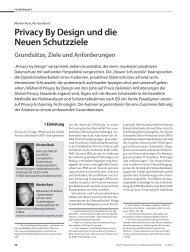 Privacy By Design und die Neuen Schutzziele Grundsätze, Ziele ...