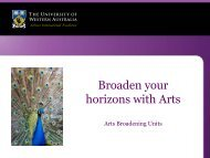 Arts Broadening Units