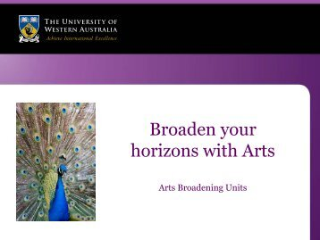 Arts Broadening Units