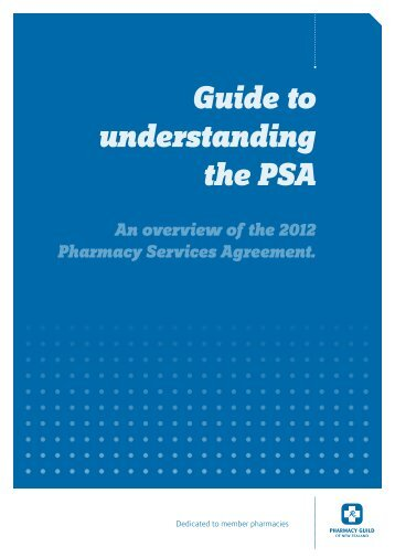 Guide to understanding the PSA - Pharmacy Guild of New Zealand