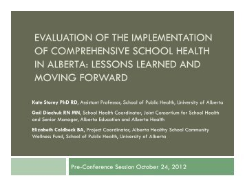 evaluation of the implementation of comprehensive school health in ...