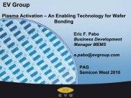 EV Group - NCCAVS - User Groups