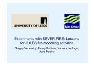 Experiments with SEVER-FIRE: Lessons for JULES fire modelling ...