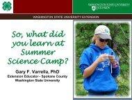 Evaluation - Spokane County Extension - Washington State University