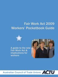 Fair Work Act 2009 Workers' Pocketbook Guide - Australian Council ...
