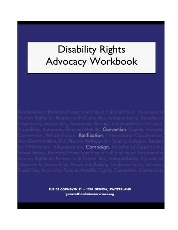 Disability Rights Advocacy Workbook - Handicap International