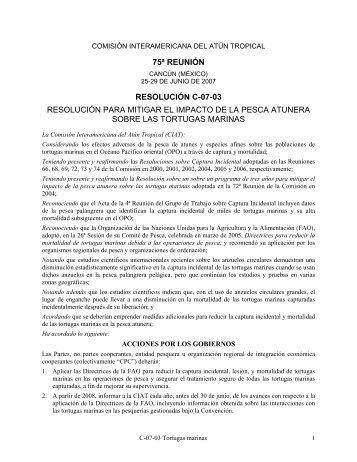 Resolución C-07-03 - Comisión Interamericana del Atún Tropical