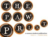 a cannon student publication issue 1.1 / october ... - Cannon School
