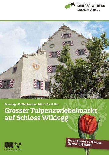 Grosser Tulpenzwiebelmarkt auf Schloss Wildegg