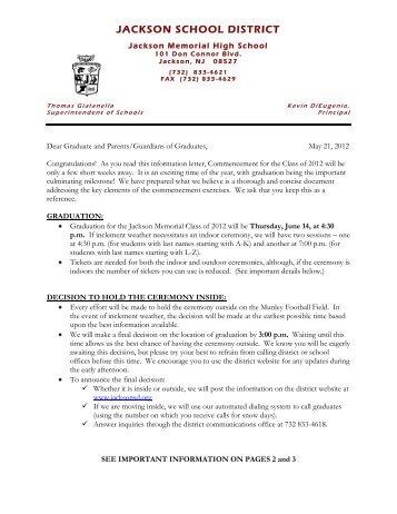 JACKSON SCHOOL DISTRICT - Jackson Memorial High School