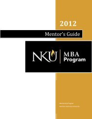 Mentor's Guide - Haile/US Bank College of Business - Northern ...