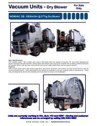 Dry Blower Vacuum Truck Brochure - Woma
