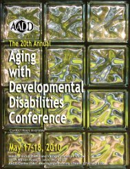 Aging DD Conference.. - Down Syndrome Association of Greater St ...