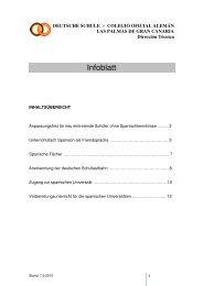 Infoblatt - Deutsche Schule Las Palmas de Gran Canaria