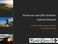 The Burren and Cliffs of Moher Aspirant Geopark - Geological ...