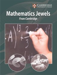 Mathematics Jewels cambridge cat..pmd - Cambridge University ...