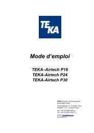 Mode d'emploi - TEKA GmbH