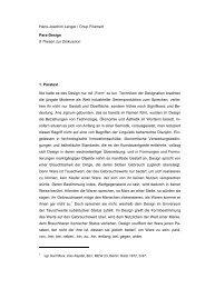 Hans-Joachim Lenger / Chup Friemert Para-Design 8 Thesen zur ...