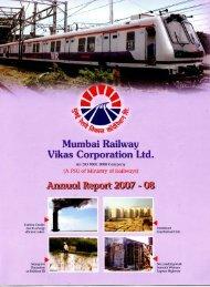 Annual Report 2007-2008 - Mumbai Railway Vikas Corporation Ltd.