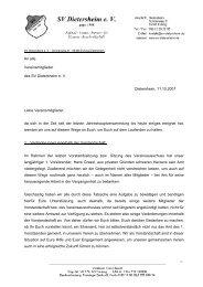 Rundschreiben (PDF, 60 kB) - SV Dietersheim